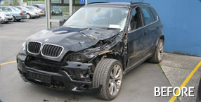 BMW X5 Crash Repair - Before